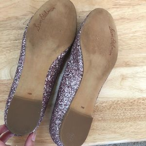f44b2190c9250 Sam Edelman Shoes - Sam Edelman Alaine Pink Scalloped Glitter Flats 10